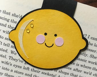 Magnetic Bookmark, Lemon, Fruit, Page Marker, Page Holder, Planner, Paperwork Organizer