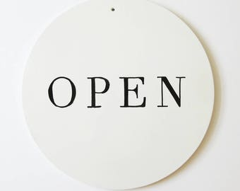 The Pure White / Open Closed / Open Closed Sign