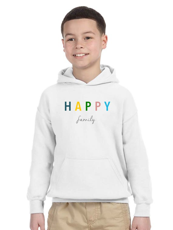 Boy Girl hoodie HAPPY FAMILY