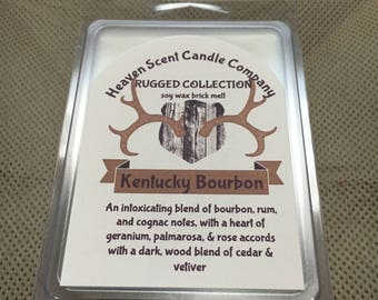 Kentucky Bourbon hand-poured soy wax brick melt