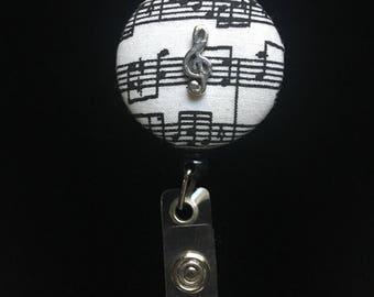 Music Minded-Nurse Retractable ID Badge Reel/ RN Badge Holder/Doctor Badge Reel/Nurse Badge Holder/Nursing Student Gifts