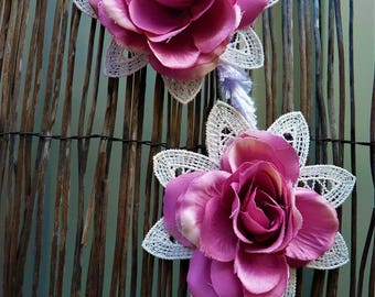Beautiful Floral boho free spirit DREAM catcher wedding home decor wall hanging