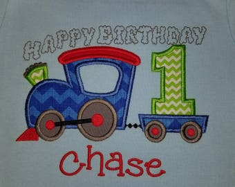 Train birthday shirt, any number