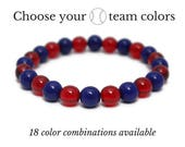 Baseball Colors - Team Spirit Sportswear - Baseball Bracelet - Gameday Jewelry - Baseball Mom - Game Day Gifts - Team Bracelet - Coach Gift