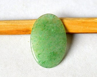 80% Sale Green Aventurine Cabs Natural Aventurine gemstone cabochon 15.5 Cts Oval Shape 32x21x3 MM AC1894