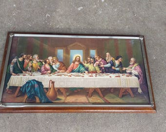 vintage last supper picture,jesus last supper wall hanging