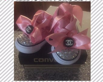 Baby Converse**Babys First Converses*Size 2,3,4,5,6 Converses *Girls Converese*Bling Converses**Pink Converses*Toddlers Converses*Converses*
