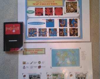 Final Fantasy II manual and maps