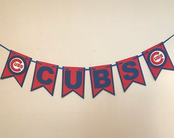 Chicago Cubs Banner - Cubs Banner - Cubs Birthday Banner - Cubs Room Decor - Cubs Wall Decor - Cubs Decoration - Chicago Banner - Photo Prop