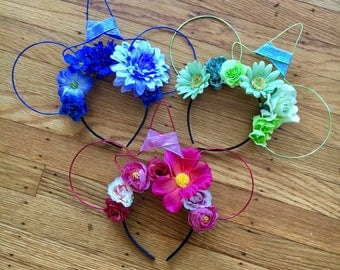 Good Fairies Ears   Flora, Fauna, Merryweather   Sleeping Beauty Fairies   Godmother   Wire Ears   Mouse Ears