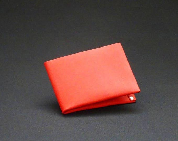 6Pocket Wallet - Red Tan - Kangaroo leather with RFID credit card blocking - Handmade - Mens/Womens - James Watson