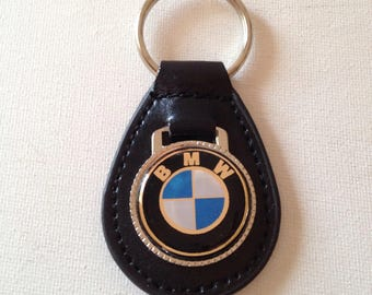 BMW Keychain Black Leather Key Chain