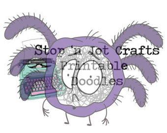 Halloween Anxiety Buddy Printable Clip Art