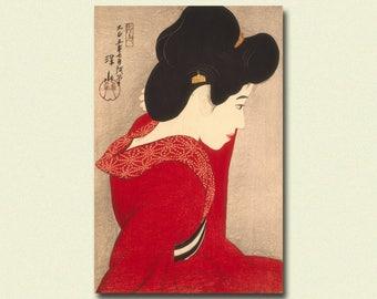 Get 1 Free Print - Before the Mirror 1916 - Ito Shinsui Print Ukiyo-e Poster Japanese Print Japanese Poster Gift Idea Shinsui Poster