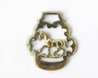 Horse - Horse Brass - Equestrian Collectable Decorative Brass - Home Decor - Traditional Brass Collectible