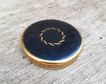 Blue vintage compact
