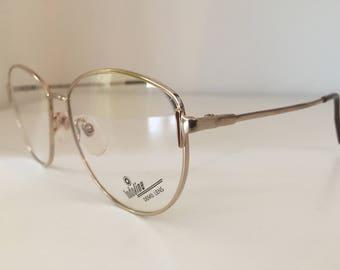1990's Gold & Brown Vintage Eyewear Spectacles/Glasses
