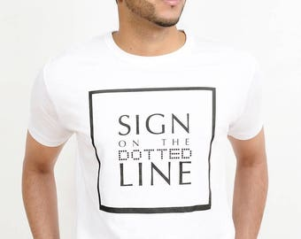 Sign On The Dotted Line, Men's Short Sleeved T-Shirt, Bamboo Viscose