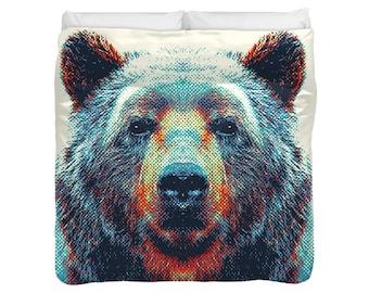 Bear - Colorful Animals Duvet Cover / Comforter