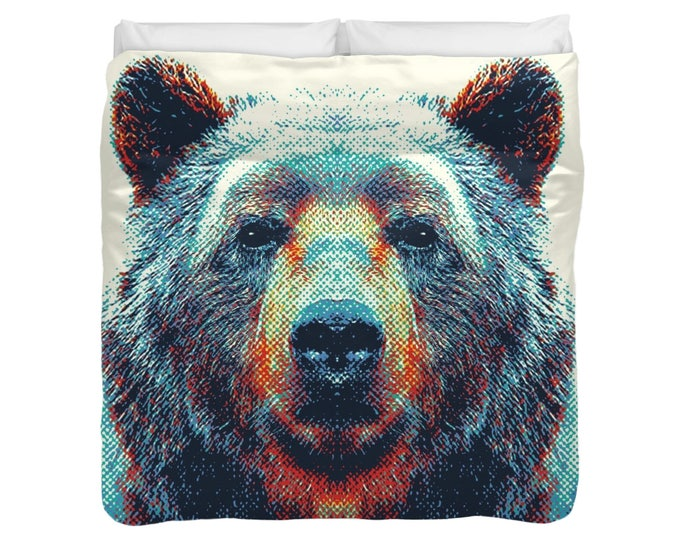 Bear - Colorful Animals Duvet Cover / Comforter