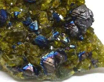 Rare Magnetite Crystals - Afghanistan - Natural mineral specimen - eb1 C