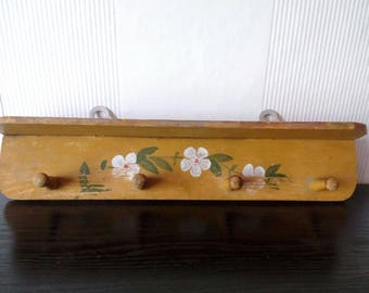 Vintage Wooden Hand painted Wall Hanger