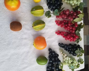 Vintage realistic fake fruit