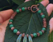 Jade and Sunstone Bracelet