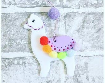 Alpaca decoration. Llama tag. Llama decoration.