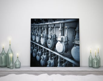 Electric Meter - Monochrome Fine Art Photoprint - Wall Decoration - Urban Home Decoration