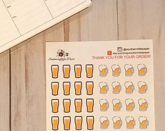 Beer Icons - planner stickers