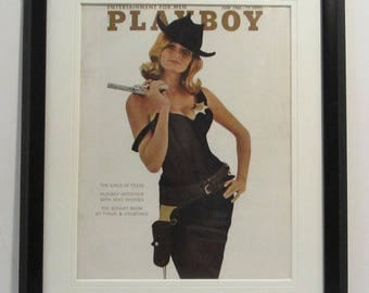 Vintage Playboy Magazine Cover Matted Framed : June 1966 - Mary Warren