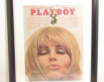 Vintage Playboy Magazine Cover Matted Framed : December 1969 - Jorja Beck