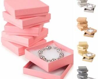 Jewelry Gift Box, Cotton Filled, Jewelry Box, Gift Box, Cotton Filled Box, Small Gift Box, Kraft Gift Box, Pink Gift Box, Gold Gift Box