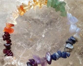 FREE GIFT, Chakra Bracelet w/ Reiki /  Chakra Crystals Healing Bracelet Jewelry