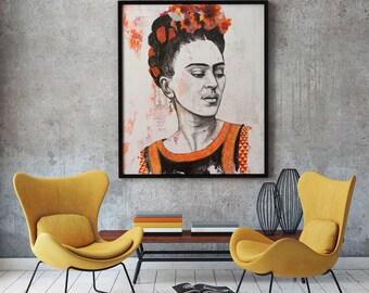 Frida Kahlo portrait print -