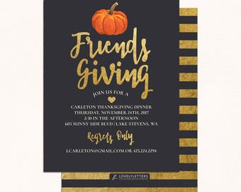 Friendsgiving Invitation Printable Friendsgiving Invite