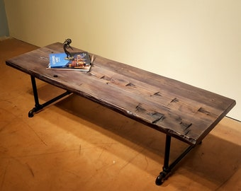 Reclaimed Wood Coffee Table, Rustic Coffee Table, Farmhouse Table, Sofa Table, Low Dining Table, Custom sizes available
