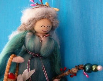 Lady Isla - Wool Felt Fairy. Element Fairy. Pagan Doll. Fairy Fibre Art. Fairy Decoration. Woodland Creations. Merino Wool Fairy. Blessing.