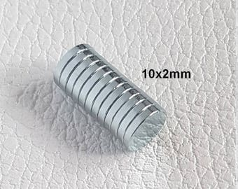 10x2mm - magnet neodymium round very powerful for leather working clasp