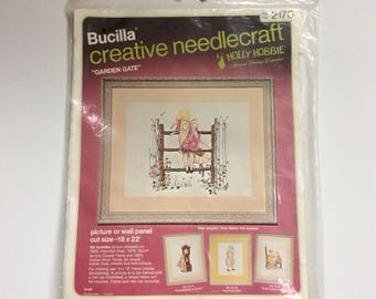 Holly Hobbie , Bucilla , creative needlecraft kit, Crewel, sewing, crafts,  hobbies