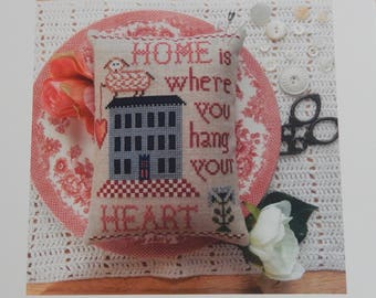 Home is Where You Hang Your Heart by Annie Bees Folk Art