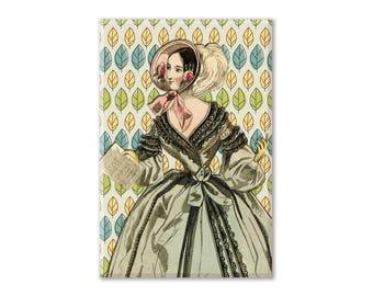 Jane Austen (2) Fridge Magnet, Regency Magnet, Refrigerator Magnet, Fridge Magnet, Kitchen Decor, Locker Magnet
