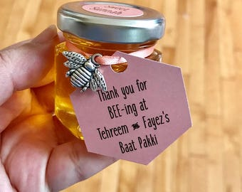 Honey jar wedding favors, honey jar favour, Muslim wedding favor, Desi wedding, honey favors, bee party, Engagement favors, honeybee, 10 ct.