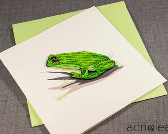 Quilled Frog Animal Card
