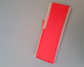 orange satin bias in 30mm to 80cm