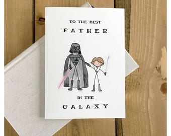 Starwars Father's Day Card // star wars card, darth vader card, funny card, father's day card, card for dad, birthday card for dad, for dad