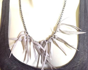 TOXIK Pearl Leather necklace