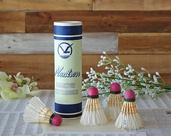 Vintage feather shuttlecocks A Montrose product Badminton game