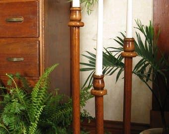 Floor Candle Holder, Candelabra, Wooden Candleholders, Tall Candlesticks, Wedding Candles